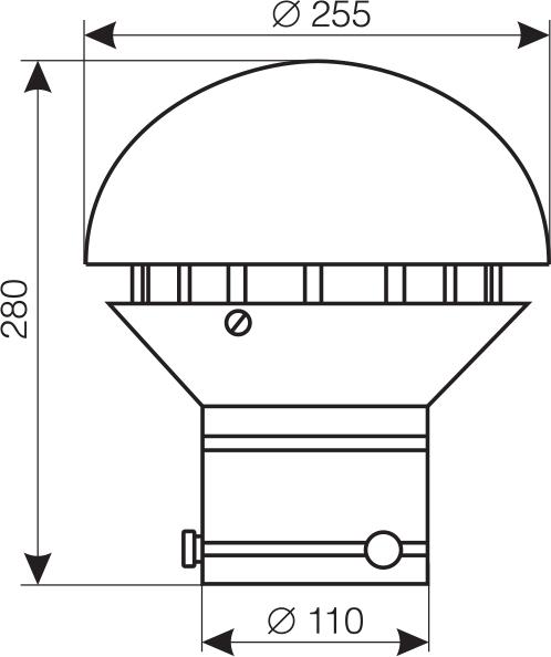 Wymiary wentylatora WD-13C