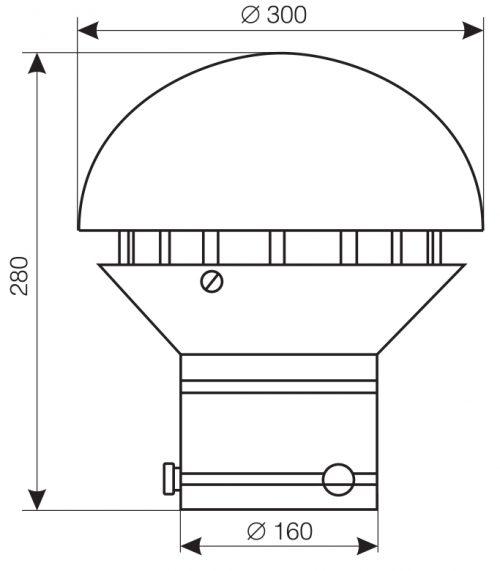 Wymiary wentylatora WD-25M