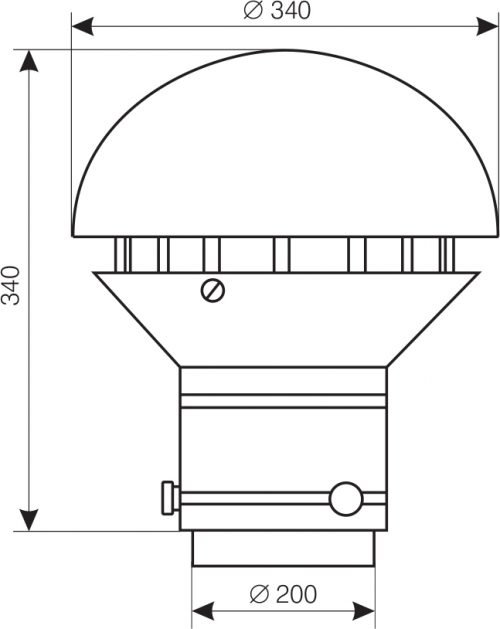 Wymiary wentylatora WD-35M/I