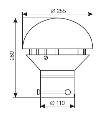 Wymiary wentylatora WD-15M