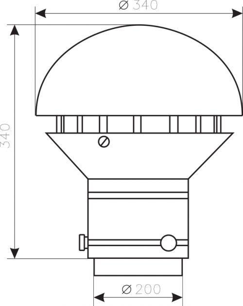 Wymiary wentylatora WD-28C